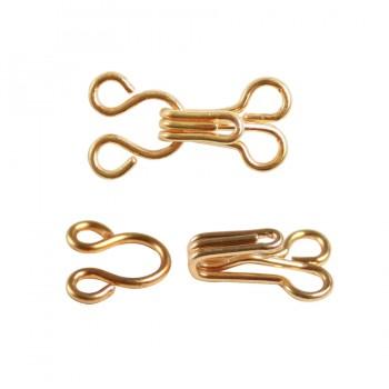Крючок швейный металлический, 1см, цвет золото