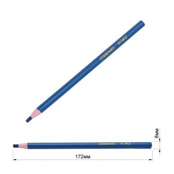 Карандаш намеловочный восковый портновский, цвет синий
