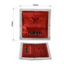 Нашивка декоративная из пайеток, star fashion, цвет красный