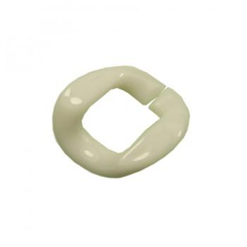 Звено цепи пластм., маленькое, цвет белый