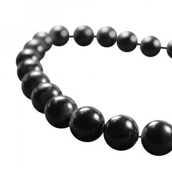 Жемчуг, 12мм, цвет черный