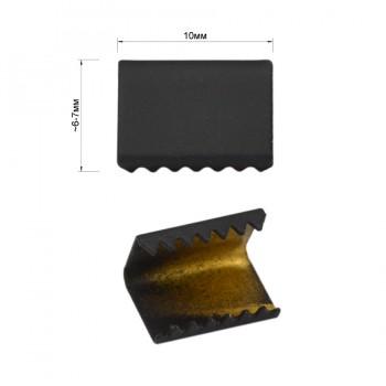 Зажим-украшение металлическое, 10мм, цвет черный тач