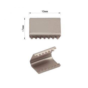 Зажим-украшение металлическое, 10мм, цвет матовый никель