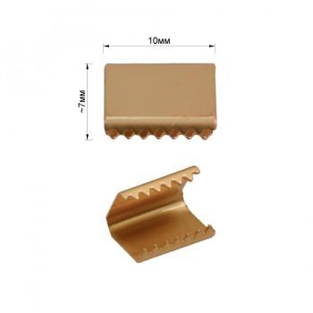 Зажим-украшение металлическое, 10мм, цвет матовое золото
