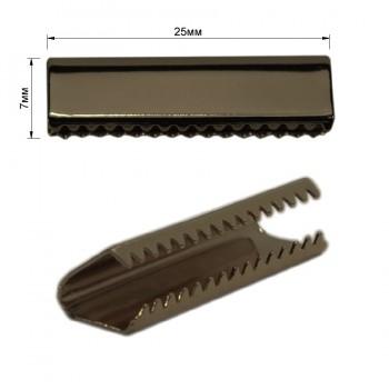 Зажим-украшение металлическое, 25мм, цвет оксид
