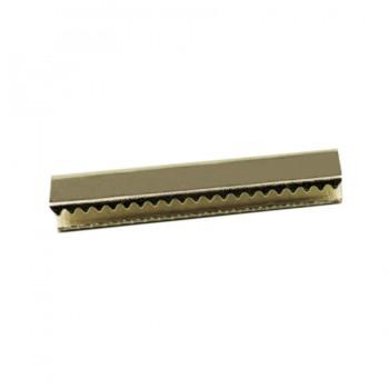 Зажим-украшение металлическое, 30мм, цвет никель