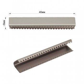 Зажим-украшение металлическое, 40мм, цвет матовый никель