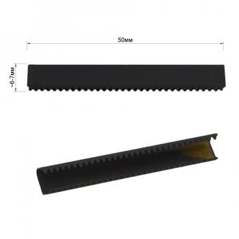 Зажим-украшение металлическое, 50мм, цвет черный тач