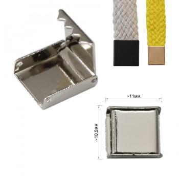 Зажим-украшение металлическое, 10мм, цвет никель