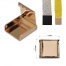Зажим-украшение металлическое, 10мм, цвет золото
