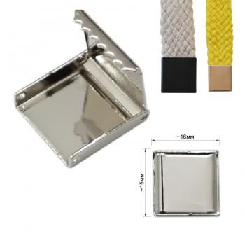 Зажим-украшение металлическое, 15мм, цвет никель