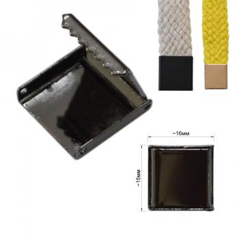 Зажим-украшение металлическое, 15мм, цвет оксид