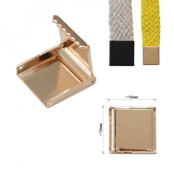 Зажим-украшение металлическое, 15мм, цвет золото
