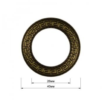 Кольцо металлическое, 2,5см, цвет антик