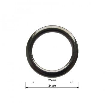 Кольцо металлическое, 2,5см, цвет оксид