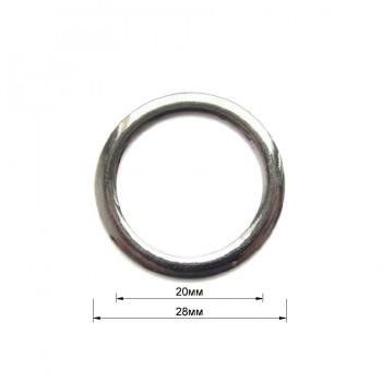 Кольцо металлическое, 2см, цвет никель
