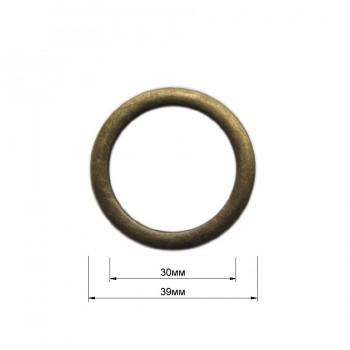 Кольцо металлическое, 3см, цвет антик