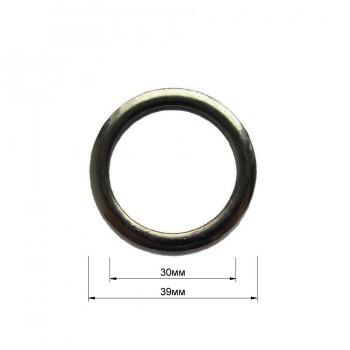 Кольцо металлическое, 3см, цвет оксид