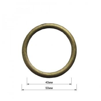 Кольцо металлическое, 4см, цвет антик