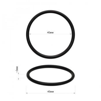 Кольцо металлическое, 4см, цвет черный матовый
