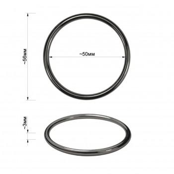 Кольцо металлическое, 5см, цвет оксид