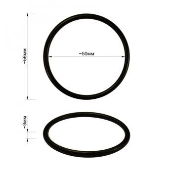 Кольцо металлическое, 5см, цвет черный матовый