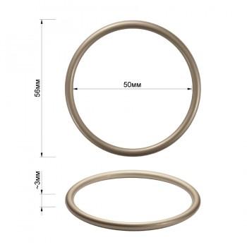Кольцо металлическое, 5см, цвет матовый никель