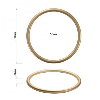 Кольцо металлическое, 5см, цвет матовое золото