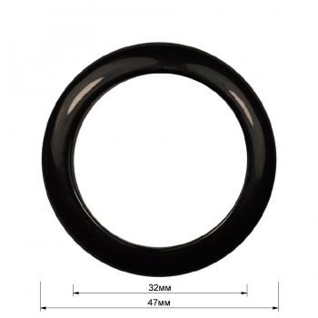 Кольцо пластиковое, 3см, цвет черный