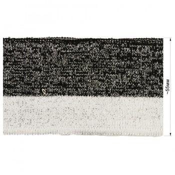 Довяз (манжета), цвет белый+черный+люрекс