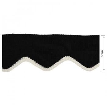 Довяз (манжета), цвет черный+белый