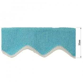 Довяз (манжета), цвет голубой+белый