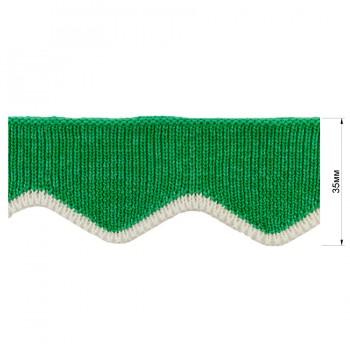 Довяз (манжета), цвет зеленый+белый