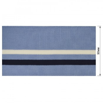 Довяз (манжета), цвет  голубой+белый+темно-синий