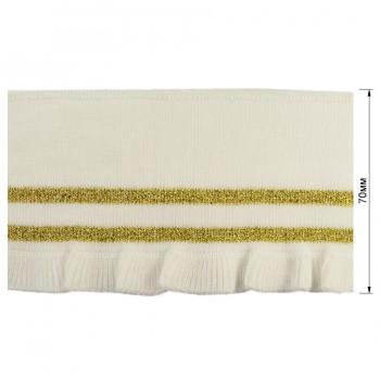 Довяз (манжета), цвет белый+золото