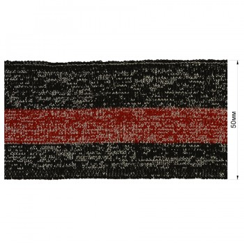 Довяз (манжета), цвет черный+красный+люрекс