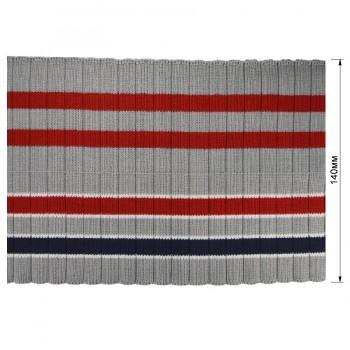 Довяз (манжета), цвет серый+т.синий+красный
