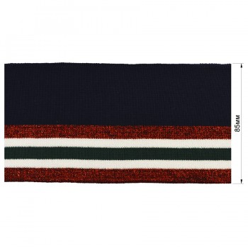 Довяз (манжета), цвет  т.синий+красный+белый+т.зеленый+люрекс