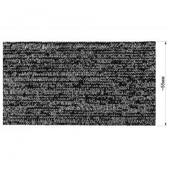 Довяз (манжета), цвет черный+серебро люрекс