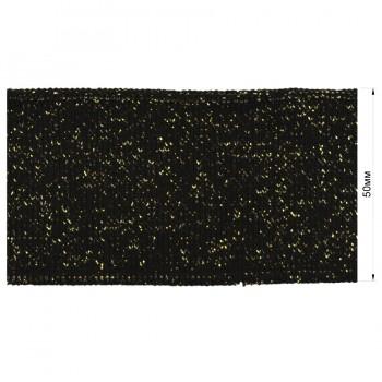 Довяз (манжета), цвет черный+золото люрекс