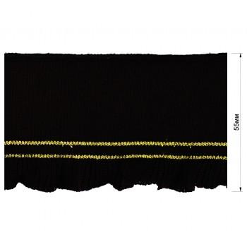 Довяз (манжета), цвет черный+золото