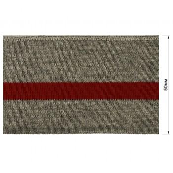 Довяз (манжета), цвет серый+красный