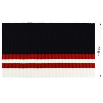 Довяз (манжета), цвет темно-синий+красный+белый