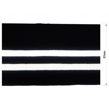 Довяз (манжета), уплотненный, цвет черный+белый