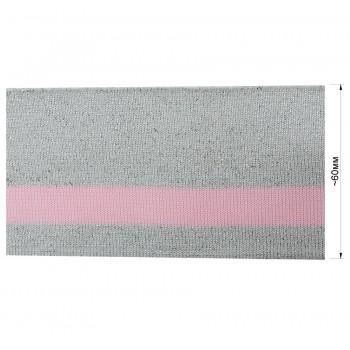 Довяз (манжета), цвет серый+розовый+люрекс