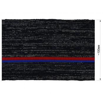 Довяз (манжета), цвет серо-синий+красный+синий