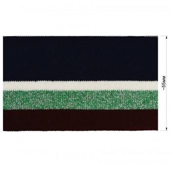 Довяз (манжета), цвет cиний+белый+зеленый+бордо+люрекс