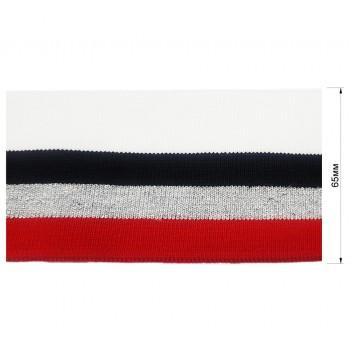 Довяз (манжета), цвет  белый+черный+серый+красный+люрекс