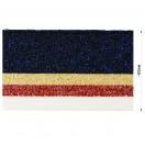 Довяз (манжета), цвет  т.синий+бежевый+красный+белый+люрекс