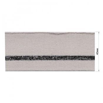 Довяз (манжета), цвет  грязно-серый+черный+люрекс